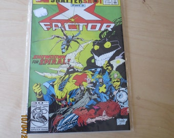 X-FACTOR ANNUAL 7  1992 64 Pages in Plastic Never Read Mint  bOX 11