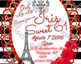 Paris Theme Invite