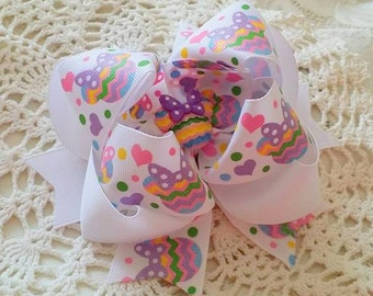 Minnie Easter Bow...Minnie Easter Hair Bow....Chevron Minnie Bow...Chevron Bow...Easter Hair Bow...Spring Minnie Bow