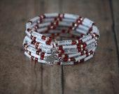 Grey Paper Book Bead Bracelet Custom for tritonegoddess