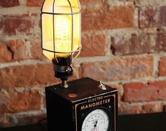 Vintage Manometer Tool Lamp