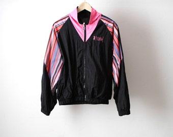 neon ski jacket hyper color contrast color block 90s jacket coat