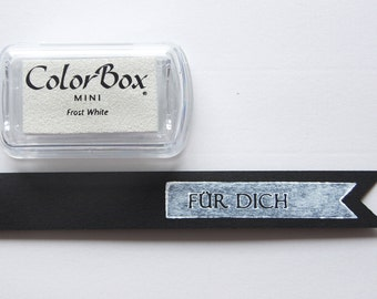 White pigment color Frost ♥♥ white - stamp pads