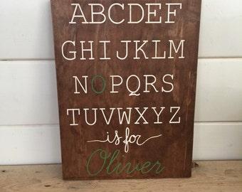 Alphabet Baby Name Sign