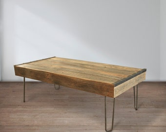 Reclaimed Wood Coffee Table, Industrial Coffee Table