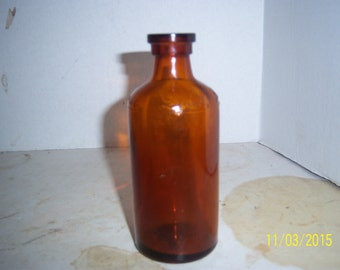 1930's Lysol Bloomfield, NJ 5 3/8 inch amber medicine bottle No 2