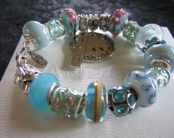 GRANDMA COMING SOON...Authentic Pandora Bracelet -or- European Bracelet - with European Style Beads...by TLCcharms