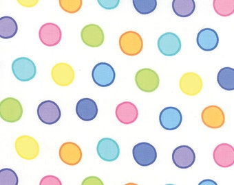 Dot Dot Dash Bubble Dots 22262-20 on White by Me & My Sister Designs for Moda