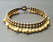 Double Layer Jingling Brass Bead Bell  Anklet