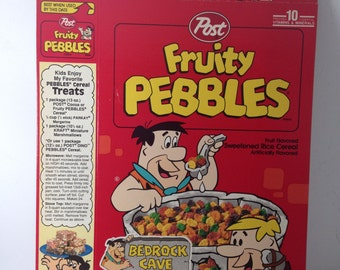 Vintage Cereal Box flintstones fruity pebbles