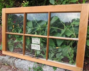 32 x 19 Vintage Window sash old  6 pane from 1973