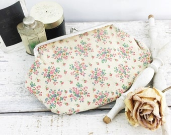 Vintage Shabby Chic Small Floral Clutch