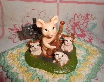 Welcome To Our Pig Pen Plastic Homorous Figurine