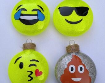 Emoji Ornaments set of four