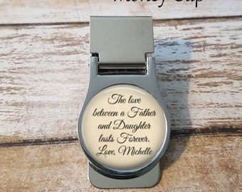 Father of the Bride Money Clip - The love between a father and daughter - Personalized Money Clip