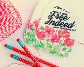 free indeed John 8:36 - set of 6 journaling - bible journaling cards