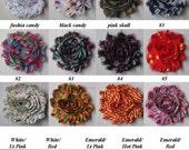"50 PRINT Shabby Flowers ~ 2.5"" Chiffon Flowers"