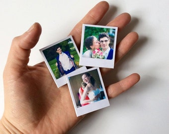 Mini photo magnets, save the date, wedding favors, keepsakes