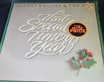 Vintage Vinyl Record Gladys Knight & The Pips: That Special Time of Year Album PC-38114