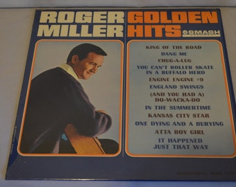 Vintage Record Roger Miller: Golden Hits Album MGS-27073