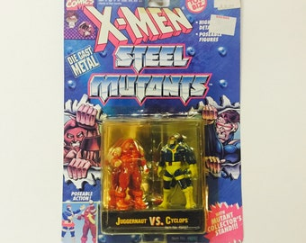 Vintage X-Men: Steel Mutants - CYCLOPS vs JUGGERNAUT - Sealed on Card 1994