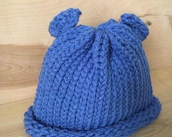 Blue Bear Beanie - Adult Size