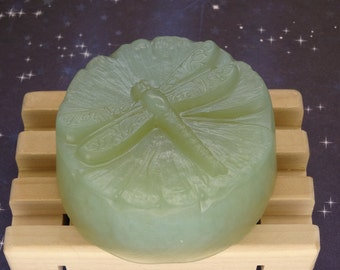 Spellbound Woods Glycerin Soap-Handmade Round Dragonfly Bar-Free Shipping