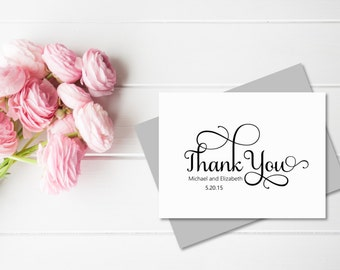 Wedding Thank You Cards | Bridal Thank You Cards | Personalized Thank You Cards | Bridal Shower | Wedding Gift | Personalized Stationery