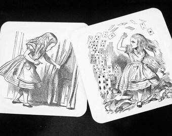 Alice in Wonderland - Hardwood Coasters