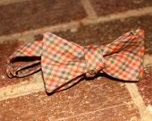 Fall Plaid Bow Tie