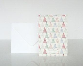 "1 ""Joyeuses fêtes"" Sapins card - 1 carte ""Joyeuses fêtes"" Sapins"