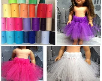 CLEARANCE - YOUR CHOICE -  Tulle Tutu for your 18 Inch Doll; American Girl, Journey Girl, Newberry, My Generation Doll Tutu, Dance Tutu