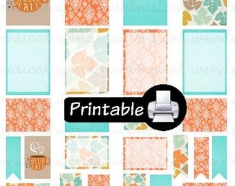 Hello Fall! 2016 PDF PRINTABLE Planner Stickers Happy Planner Erin Condren Planner Filofax Plum Paper Decorating Kit Autumn Coffee