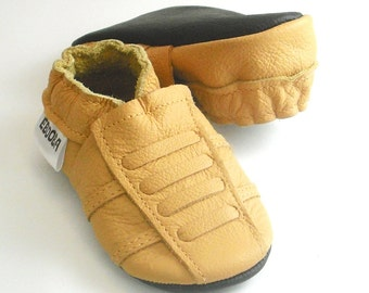 soft sole baby shoes leather infant sport yellow 6 12 ebooba SP-4-Y-T-2