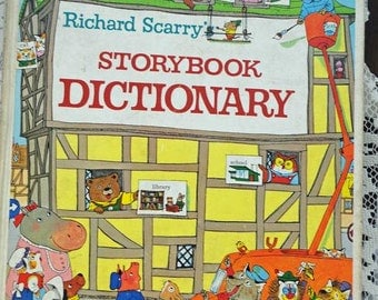 "First Edition Richard Scarry ""Storybook Dictionary"" 1966 (AB)"