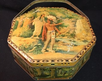 Hiawatha's Wedding Loose-Wiles Biscuit Tin
