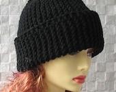 Black Slouchy Beanie Urban Style Knit Fall Warm Hat Men's Cap Boys for Men Boy Chunky Wool Black Hat Mens Winter Beanie Teen Boy Nice