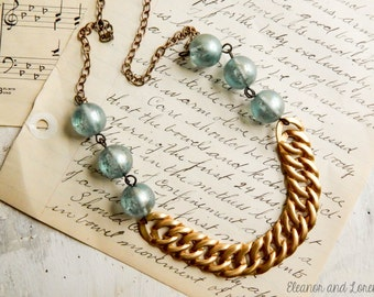 Upcycled chain necklace / vintage bead necklace / upcycled necklace / upcycled jewelry / vintage jewelry / vintage beads / upcycled vintage