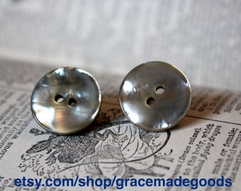 Vintage Pearly Button Earrings