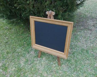 Vintage Oak Framed Chalkboard-Oak Framed Chalkboard-Framed Message Board -24.5 x 20.5 Framed Chalkboard - Basket Weave Oak Frame Chalkboard