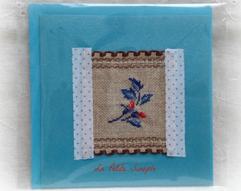 "Embroidered card ""Digoin"""