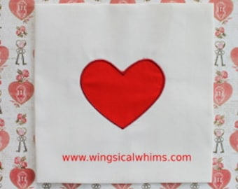Heart Applique Digitized Machine Embroidery File ONLY