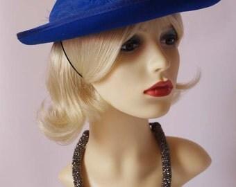Vintage 1990s hat, wedding hat, races hat, ascot hat, bridal hat
