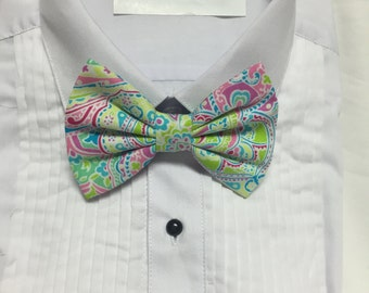 Colorful Henna Print Bowtie / Bow Tie