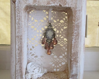 OOAK whimsical shabby chic cameo decor