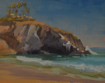Laguna Beach - Plein Air - Oil Painting - California - Coast - Cliffs - Beach - Seascape - Landscape - Seaside - Crystal Cove - Coastline