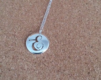 Letter E Necklace Pendant Initial Jewellery Gift for her Initial Silver  Personalized  Letter E