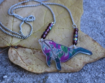 Flower Whale Necklace