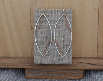 Sterling Double Wire Wrapped Hoop