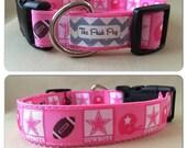 """Handmade Cowgirl Football Fan 1"""" Adjustable Dog Collar"""
